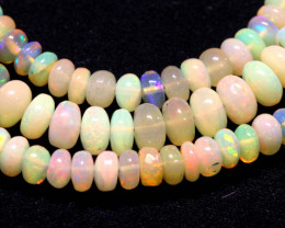 50 CTS   ETHIOPIAN OPAL BEADS STRAND   FOB-2333