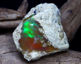 Welo Rough 18.74Ct Natural Ethiopian Play Of Color Rough Opal D2901