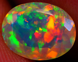 0.98 CT Broadflash Pattern!! Faceted Cut Ethiopian Opal -DF581