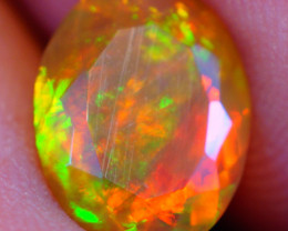 1.18 CT Broadflash Fire Pattern!! Faceted Cut Ethiopian Opal -DF586
