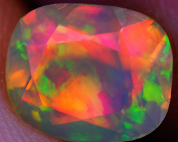 0.93 CT Broadflash Pattern!! Faceted Cut Ethiopian Opal -DF596