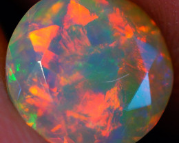 8X8 MM Broad Patchwork Pattern!!Faceted Cut Ethiopian Opal -DF611