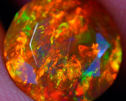 8X8 MM Multi Fire Pattern!! Faceted Cut Ethiopian Opal -DF612