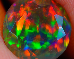 1.49 CT Broad Patchwork Pattern!! Faceted Cut Ethiopian Opal -DF615