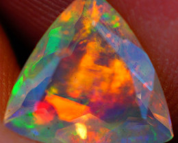 1.32 CT Broadflash Pattern!! Faceted Cut Ethiopian Opal -DF617