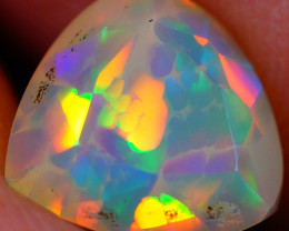 1.34 CT Broad Patchwork Pattern!! Faceted Cut Ethiopian Opal -DF620