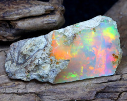 Welo Rough 12.64Ct Natural Ethiopian Play Of Color Rough Opal DT0174
