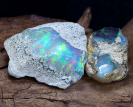 Welo Rough 16.89Ct Natural Ethiopian Play Of Color Rough Opal E3002
