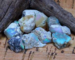 Welo Rough 40.34Ct Natural Ethiopian Play Of Color Rough Opal F3002