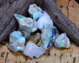 Welo Rough 42.14Ct Natural Ethiopian Play Of Color Rough Opal F3003