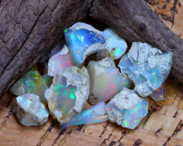 Welo Rough 41.61Ct Natural Ethiopian Play Of Color Rough Opal F3004