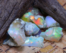 Welo Rough 40.86Ct Natural Ethiopian Play Of Color Rough Opal F3008