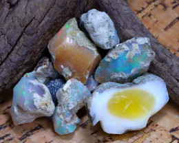 Welo Rough 41.76Ct Natural Ethiopian Play Of Color Rough Opal F3009