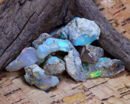 Welo Rough 36.74Ct Natural Ethiopian Play Of Color Rough Opal F3010