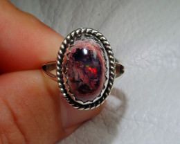 8.2sz Mexican Taxco Opal .925 Sterling Silver Ring