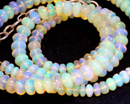 55 CTS   ETHIOPIAN OPAL BEADS STRAND   FOB- 2342