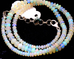 46 CTS   ETHIOPIAN OPAL BEADS STRAND   FOB- 2343