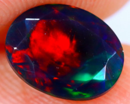 1.15cts Natural Ethiopian Faceted Smoked Opal / BF2540