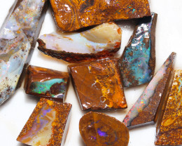 199 cts Parcel 10 Boulder Opals rubbed  By Opal Miner  code  CH 346