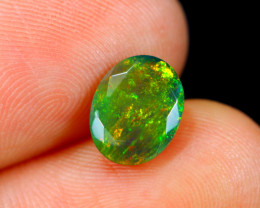 1.36cts Natural Ethiopian Faceted Smoked Black Opal / HM148