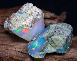 Welo Rough 19.16Ct Natural Ethiopian Play Of Color Rough Opal F0207