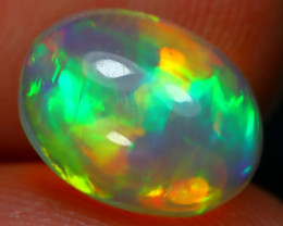 2.11Ct Bright Color Natural Ethiopian White Welo Opal D0909