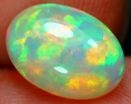 2.12Ct Bright Color Natural Ethiopian White Welo Opal D0908