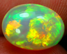 2.13Ct Bright Color Natural Ethiopian White Welo Opal D0905