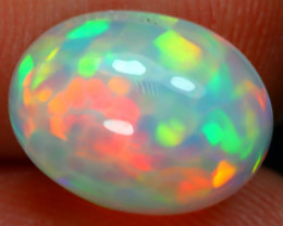 2.46Ct Bright Color Natural Ethiopian White Welo Opal DT0196