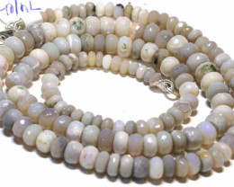 73.60 CTS   DARK BASE OPAL FACETED BEADS STRAND L.RIDGE  TBO-A1349