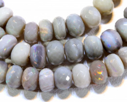 100.55 CTS   DARK BASE OPAL FACETED BEADS STRAND L.RIDGE  TBO-A1350