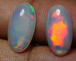 4.610 CRT BRILLIANT PAIRS ROLLING FLASH FIRE PATTERN WELO OPAL*