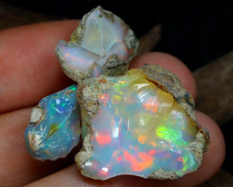 Welo Rough 31.73Ct Natural Ethiopian Play Of Color Rough Opal D0306