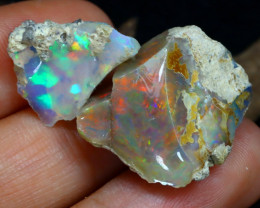 Welo Rough 25.36Ct Natural Ethiopian Play Of Color Rough Opal D0308