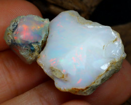 Welo Rough 24.20Ct Natural Ethiopian Play Of Color Rough Opal D0309