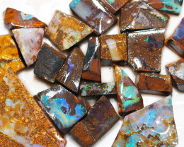 319 cts Parcel 20 Boulder Opals rubbed  By Opal Miner  code  CH 355