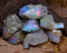 Welo Rough 48.52Ct Natural Ethiopian Play Of Color Rough Opal D0401