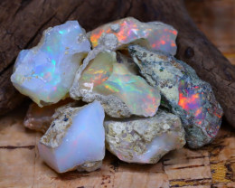 Welo Rough 45.74Ct Natural Ethiopian Play Of Color Rough Opal D0404