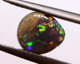 Australian Black Opal Lightning Ridge Cut Stone DO-34