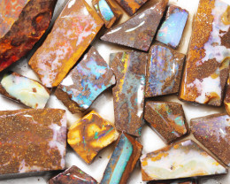 486 cts Parcel 20 Boulder Opals rubbed  By Opal Miner  code  CH 364