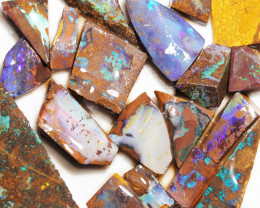 586 cts Parcel 20 Boulder Opals rubbed  By Opal Miner  code  CH 366