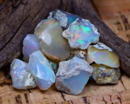 Welo Rough 43.83Ct Natural Ethiopian Play Of Color Rough Opal D0505