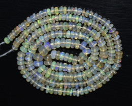 29.95 Ct Natural Ethiopian Welo Opal Beads Play Of Color OB1034