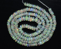 30.75 Ct Natural Ethiopian Welo Opal Beads Play Of Color OB1037