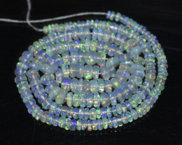 44.25 Ct Natural Ethiopian Welo Opal Beads Play Of Color OB1043