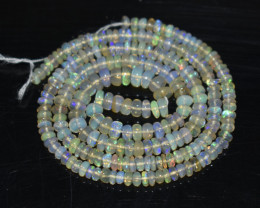 30.55 Ct Natural Ethiopian Welo Opal Beads Play Of Color OB1044