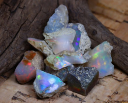 Welo Rough 35.18Ct Natural Ethiopian Play Of Color Rough Opal D0707