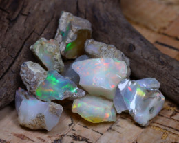 Welo Rough 34.70Ct Natural Ethiopian Play Of Color Rough Opal D0711