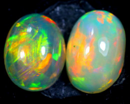 2.42cts Natural Ethiopian Welo Opal Pair / BF2570