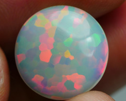5.615 CRTAMAZING ROUND PACTHWORK PUZZLE PATTERN FIRE WELO OPAL-